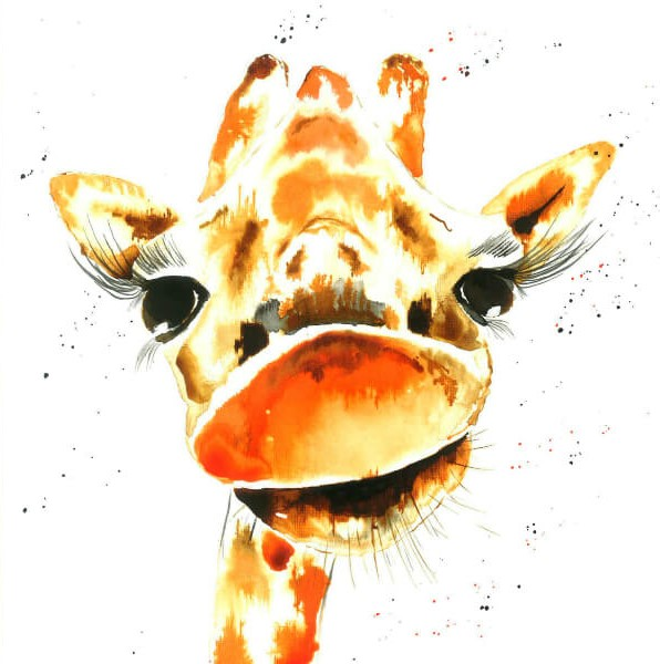 George the Giraffe - Barnstaple-Painter