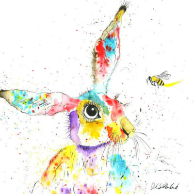 Rainbow Hare Picture - North Devon Art